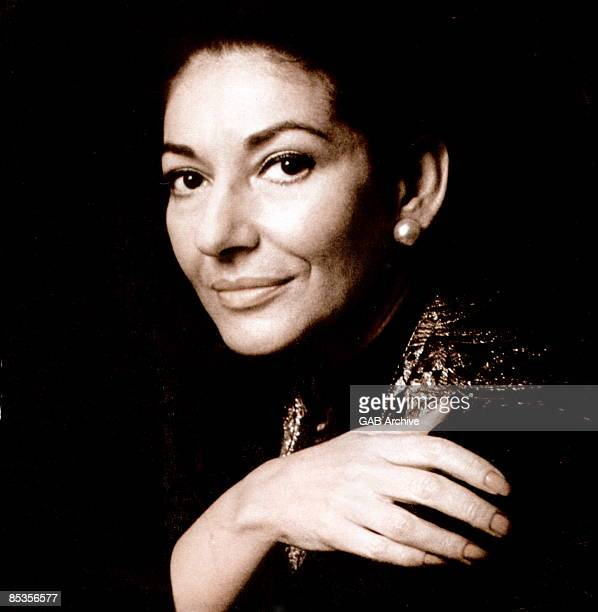 Photo of Maria CALLAS Posed studio potrait of opera singer Maria Callas