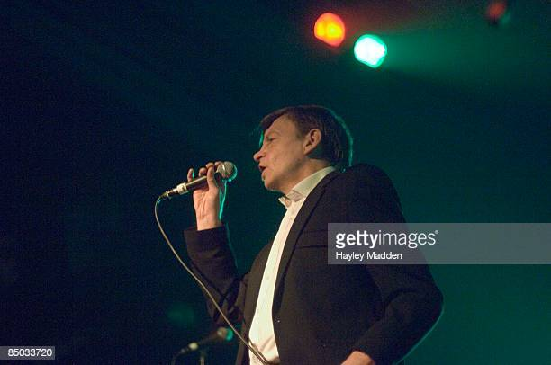 PALAIS Photo of Mark E SMITH and FALL Mark E Smith performing live onstage at the final gig at the Hammersmith Palais