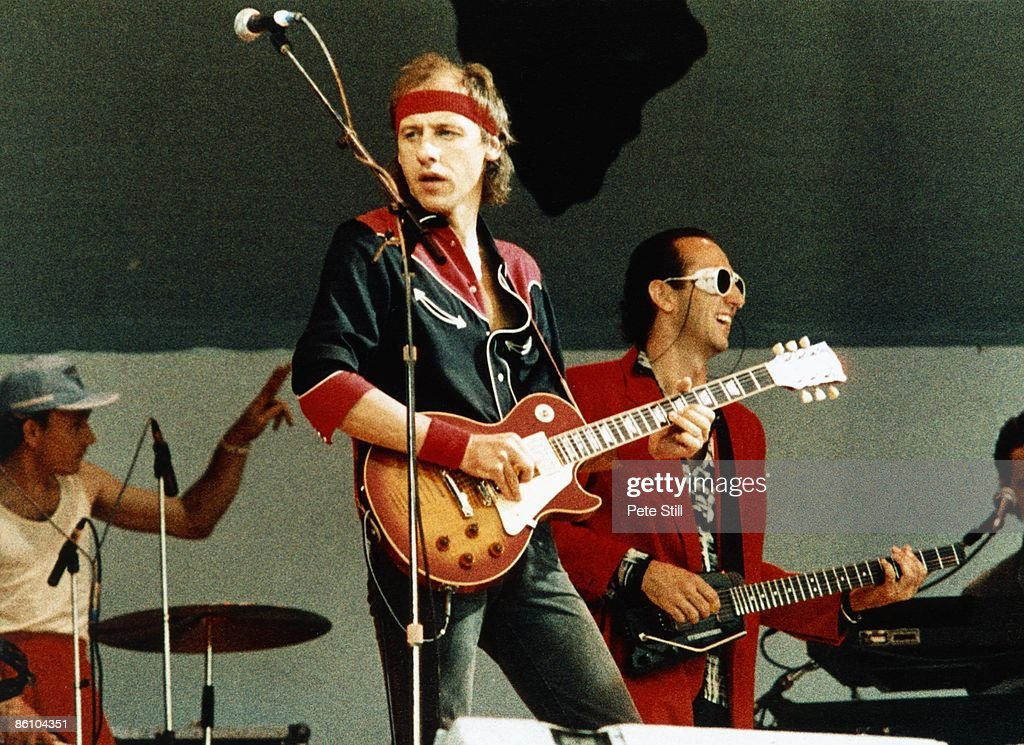 Photo of Mark KNOPFLER and DIRE STRAITS and LIVE AID and Jack SONNI : News Photo