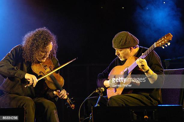 FESTIVAL Photo of Martin HAYES and Dennis CAHILL Martin Hayes and Dennis Cahill performing on stage at the Sligo Live music festival