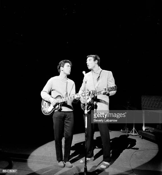 EMPIRE Photo of Marty WILDE and Cliff RICHARD with Marty Wilde performing live onstage on 'Oh Boy' TV show