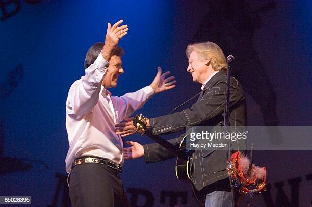 PALLADIUM Photo of Marty WILDE and Justin HAYWARD with Marty Wilde performing live onstage on Marty Wilde's 50th Anniversary Tour