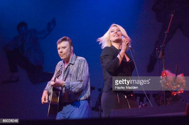 PALLADIUM Photo of Marty WILDE and Kim WILDE with Marty Wilde performing live onstage on Marty Wilde's 50th Anniversary Tour