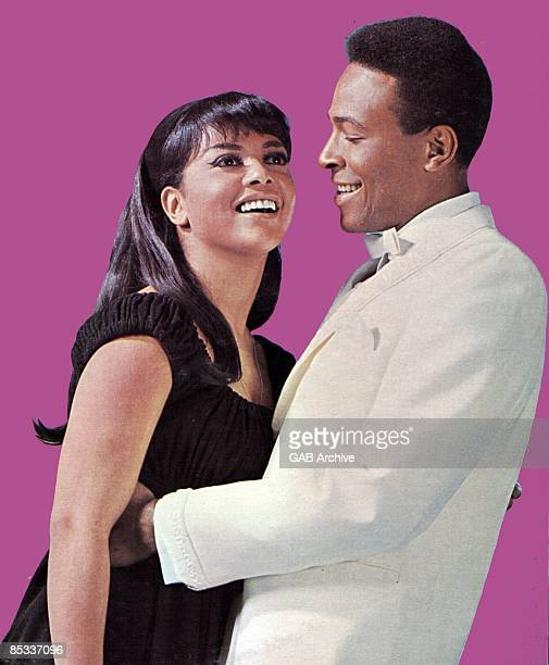 Photo of Marvin GAYE and Tammi TERRELL; Posed portrait of Tammi Terrell and Marvin Gaye