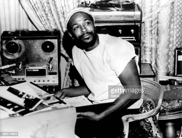 USA Photo of Marvin GAYE Portrait of Marvin Gaye wearing hat