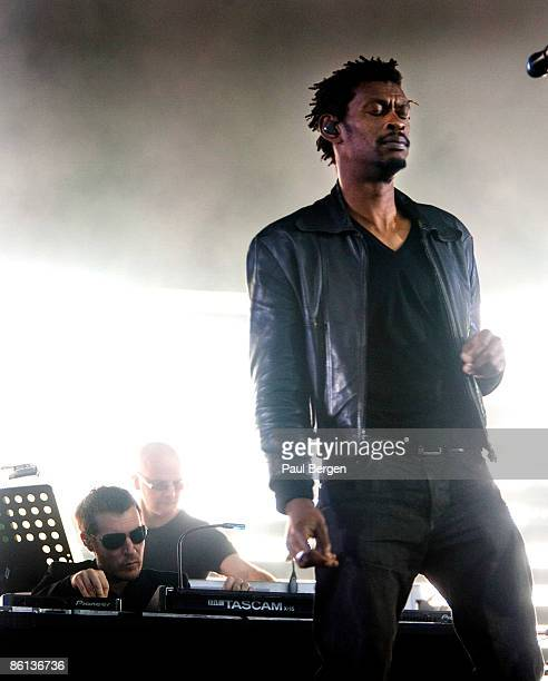 WESTERPARK Photo of MASSIVE ATTACK and 3D and Robert DEL NAJA and DADDY G Robert del Naja and Daddy G performing on stage