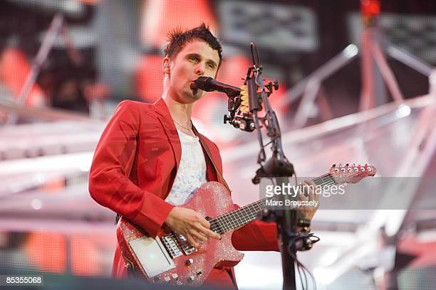 Photo of Matt BELLAMY and MUSE, Matt Bellamy performing live onstage at the new Wembley Stadium