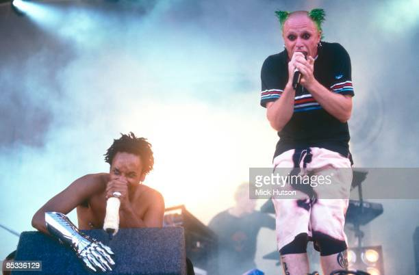 FESTIVAL Photo of MAXIM and Keith FLINT and PRODIGY Maxim and Keith Flint performing on stage