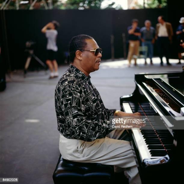 Photo of McCoy TYNER; McCoy Tyner performing, outdoors