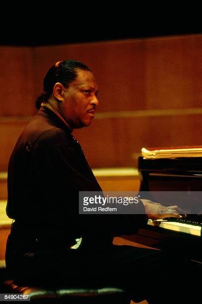 Photo of McCoy TYNER; Pianist McCoy Tyner performing on stage