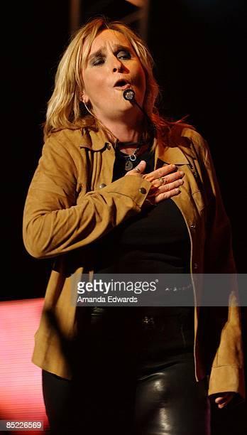 Photo of Melissa ETHERIDGE; Melissa Etheridge performing at the Verizon Wireless Amphitheatre in Irvine, CA., 17 August, 2002