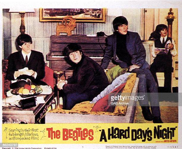 Photo of MEMORABILIA and FILM POSTERS and BEATLES Film Lobby Card for A Hard Day's Night