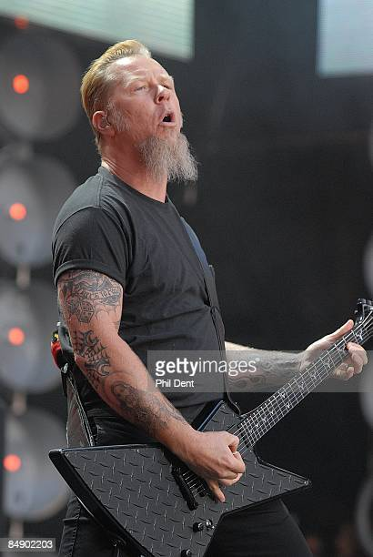 STADIUM Photo of METALLICA and James HETFIELD and LIVE EARTH CONCERT James Hetfield performing live onstage at Live Earth concert playing ESP guitar