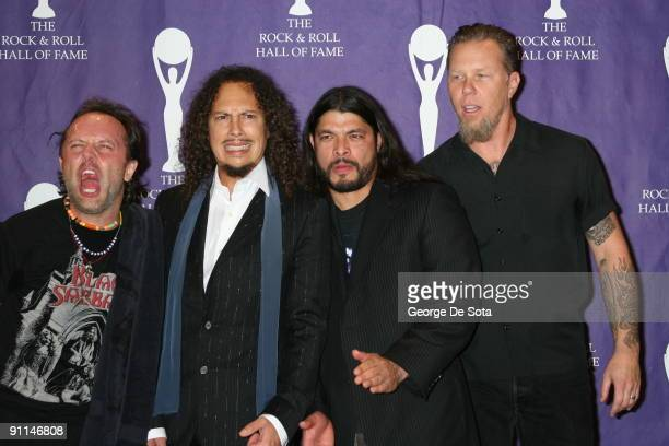 Photo of METALLICA; March 13, 2006 -21st Annual Rock and Roll Hall of Fame Induction Ceremony at the Waldorf Astoria in New York City., Metallica,...