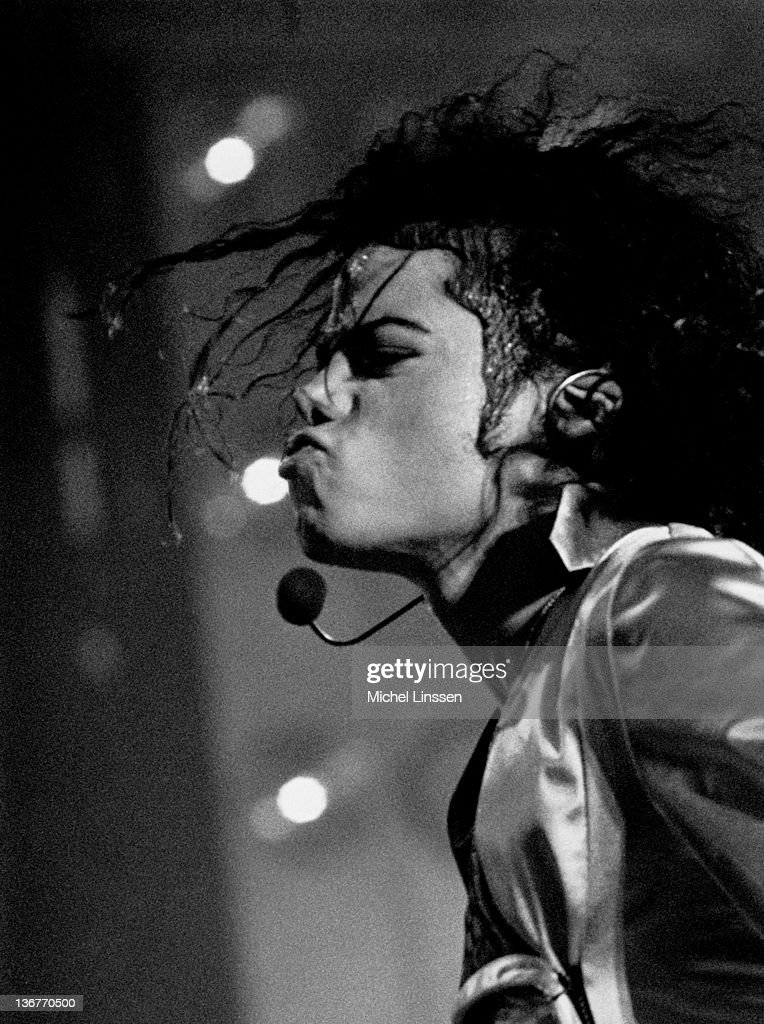 Photo of Michael JACKSON; Michael Jackson performing on stage at the Amsterdam Arena - HIStory Tour in June 1997.
