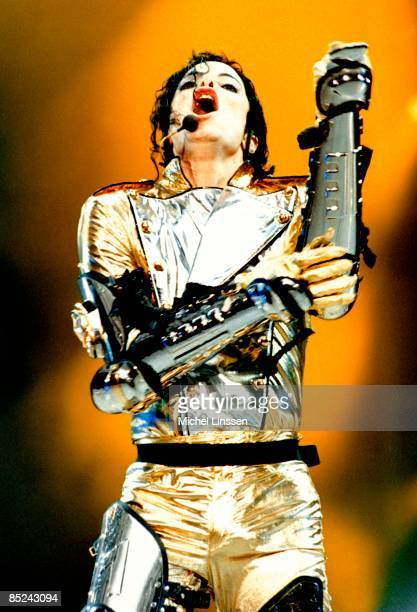 Photo of Michael JACKSON Michael Jackson performing on stage at the Amsterdam ArenA HIStory Tour