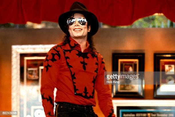 Photo of Michael JACKSON; Portrait of Michael Jackson, wearing hat and sunglasses