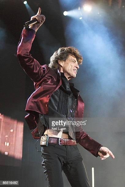 FESTIVAL Photo of Mick JAGGER and ROLLING STONES Mick Jagger performing live onstage