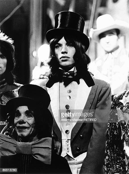 Photo of Mick JAGGER of the Rolling Stones on the set of 'Rock 'n' Roll Circus'