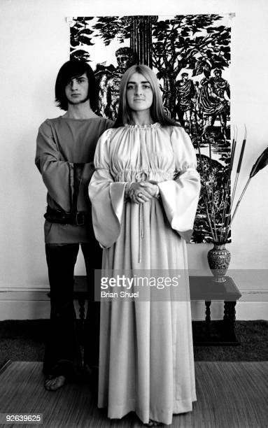 Photo of Mike OLDFIELD and Sally OLDFIELD with his sister Sally Oldfield