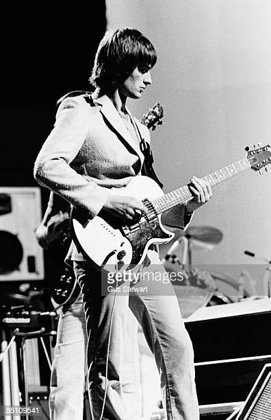 HALL Photo of Mike OLDFIELD Mike Oldfield performing on stage He plays a Gibson L6S guitar