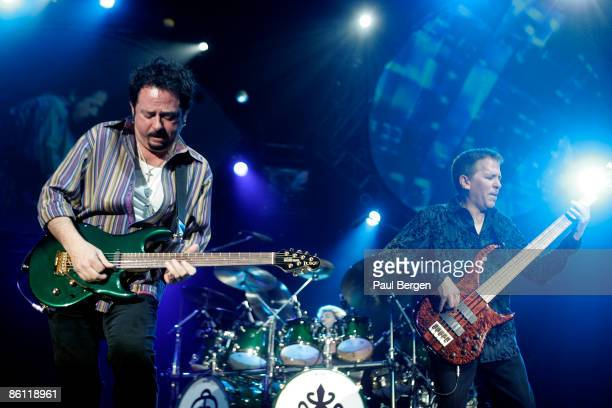 AHOY Photo of Mike PORCARO and Steve LUKATHER and TOTO LR Steve Lukather Mike Porcaro