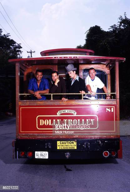 USA Photo of Mikey CRAIG and John MOSS and BOY GEORGE and CULTURE CLUB LR Mikey Craig John Moss Boy George Roy Hay on a tram at Dollywood