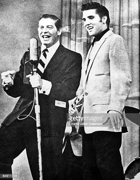USA Photo of Milton BERLE and Elvis PRESLEY L R Milton Berle Elvis Presley Elvis being introduced on The Milton Berle Show