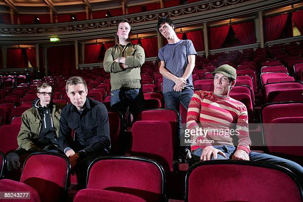 HALL Photo of MODEST MOUSE and Isaac BROCK and Jeremiah GREEN and Johnny MARR and Joe PLUMMER and Tom PELOSO LR Jeremiah Green Joe Plummer Isaac...