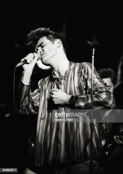 HALL Photo of MORRISSEY and SMITHS Morrissey performing live onstage