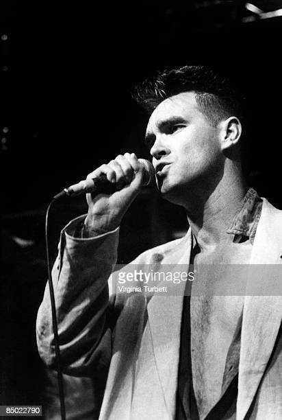 Photo of MORRISSEY and SMITHS Morrissey performing 'Panic' on The Tube TV show
