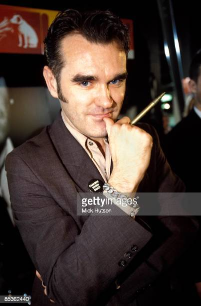 HMV Photo of MORRISSEY Morrissey posed at instore signing session