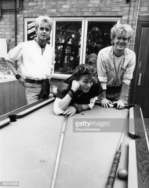 Photo of Morten HARKET and AHA and Pal WAAKTAAR and Mags FURUHOLMEN LR Pal Waaktaar Morten Harket Mags Furuholmen at Pete Townshend's 'Eel Pie...