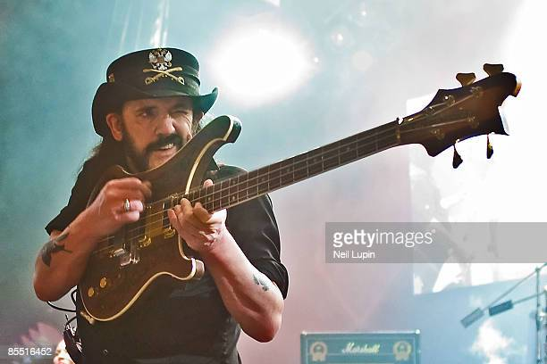 APOLLO Photo of MOTORHEAD and LEMMY Lemmy performing on stage