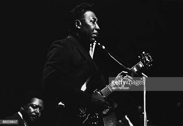 Photo of Muddy Waters 1 Muddy Waters and in the back Otis Spann Copenhagen 1968