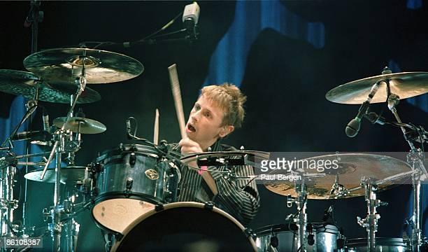 Photo of MUSE, 31-5-2004,Landgraaf,Pinkpop, Muse,drummer Dominic Howard