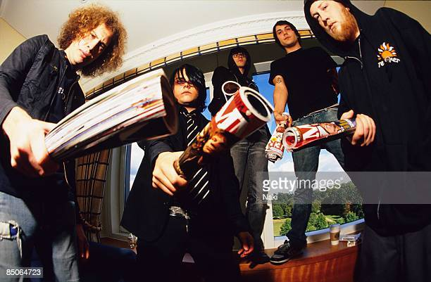 HOTEL Photo of MY CHEMICAL ROMANCE and Gerard WAY and Ray TORO and Mikey WAY and Frank IERO and Bob BRYAR LR Ray Toro Gerard Way Mikey Way Frank Iero...