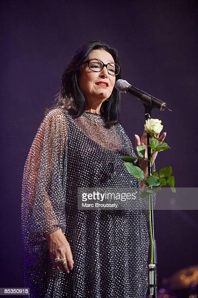 HALL Photo of Nana MOUSKOURI Nana Mouskouri performing live on stage during her farewell tour