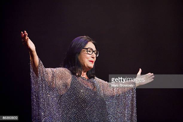 Photo of Nana MOUSKOURI, Nana Mouskouri performing live on stage during her farewell tour