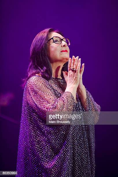 Photo of Nana MOUSKOURI, Nana Mouskouri performing live on stage during her farewell tour