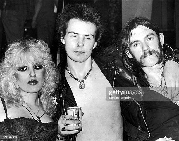 Photo of Nancy SPUNGEN and Sid VICIOUS and LEMMY; with girlfriend Nancy Spungen & Lemmy from Motorhead