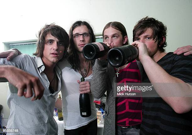 DOME Photo of Nathan FOLLOWILL and Jared FOLLOWILL and Matthew FOLLOWILL and Caleb FOLLOWILL and KINGS OF LEON LR Jared Followill Nathan Followill...
