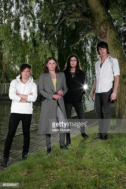 DONCASTER Photo of Nathan FOLLOWILL and Jared FOLLOWILL and Matthew FOLLOWILL and Caleb FOLLOWILL and KINGS OF LEON LR Matthew Followill Caleb...
