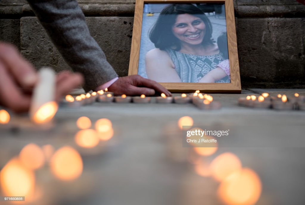 Fourth Candle Vigil Is Held For Imprisoned Nazanin Zaghari-Ratcliffe : News Photo