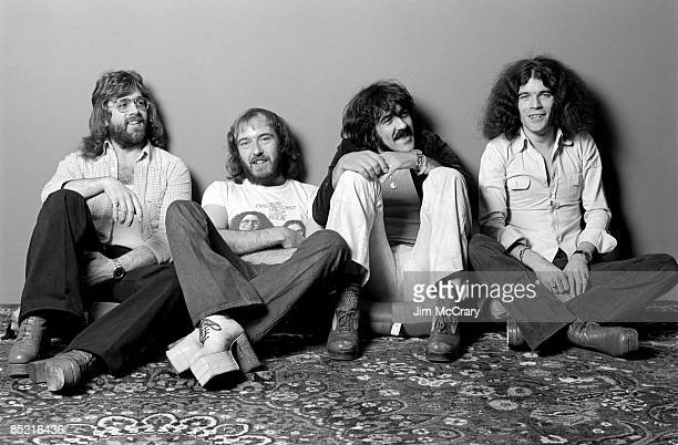 Photo of NAZARETH and Darrell SWEET and Pete AGNEW and Manny CHARLTON and Dan McCAFFERTY Posed studio group portrait LR Darrell Sweet Pete Agnew...