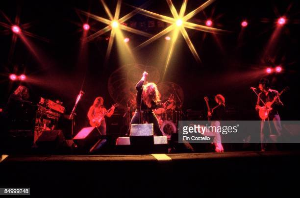 THEATRE Photo of Neil MURRAY and Bernie MARSDEN and Jon LORD and WHITESNAKE and David COVERDALE and Micky MOODY LR Jon Lord Bernie Marsden David...