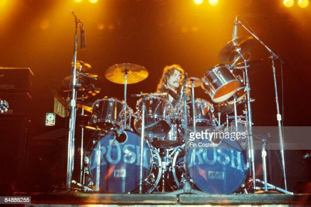 USA Photo of Neil PEART and RUSH Neil Peart performing live onstage on All The World's A Stage tour