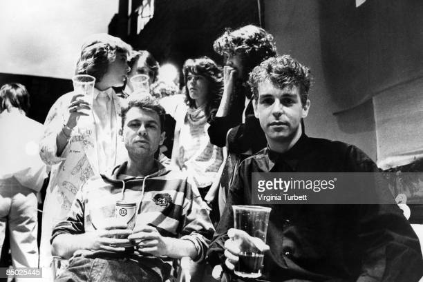 Photo of Neil TENNANT and Chris LOWE and PET SHOP BOYS LR Chris Lowe Neil Tennant