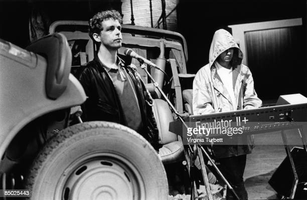 Photo of Neil TENNANT and Chris LOWE and PET SHOP BOYS LR Neil Tennant Chris Lowe