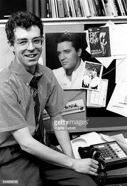 Photo of Neil TENNANT and PET SHOP BOYS Neil Tennant working as editor of Smash Hits